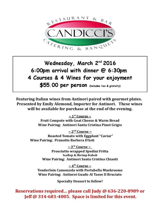 Candicci s Wine Dinner march 2016 jpg