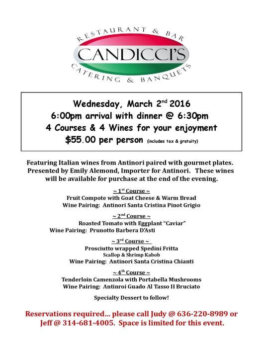 Candicci s Wine Dinner march 2016 jpg